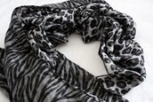 scarf,zebra,silk,leopard print