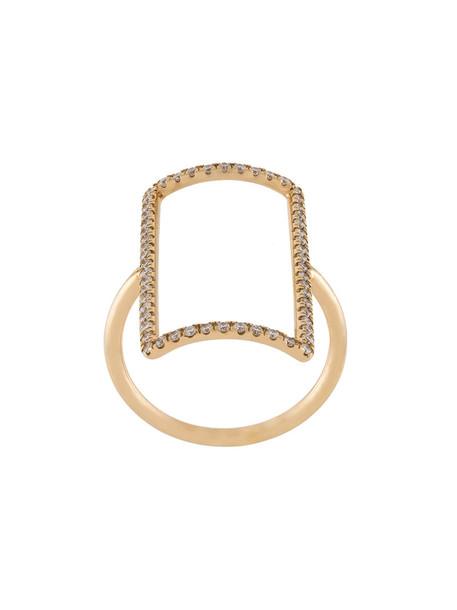 rose gold rose women ring gold grey metallic jewels