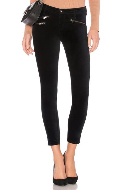 AG ADRIANO GOLDSCHMIED velvet black pants