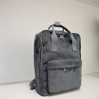 bag corduroy backpack corduroy backpack square minimalist vintage fjallraven kanken