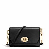 madison crosstown crossbody bag in leather