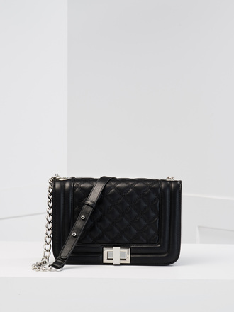 bag chain bag black leather bag black bag quilted quilted bag shoulder bag