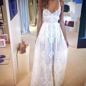 dress lace dress beach dress gown long dress