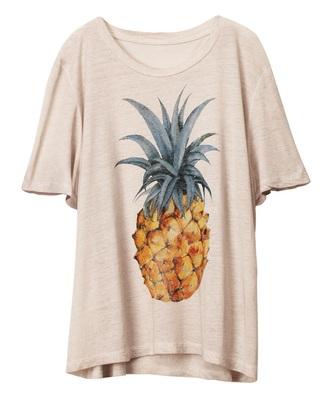 shirt pineapple h&m pineapple shirt cute top boyfriend tshirt tshirt. fashion pineapple print oversized sweater oversized shirt