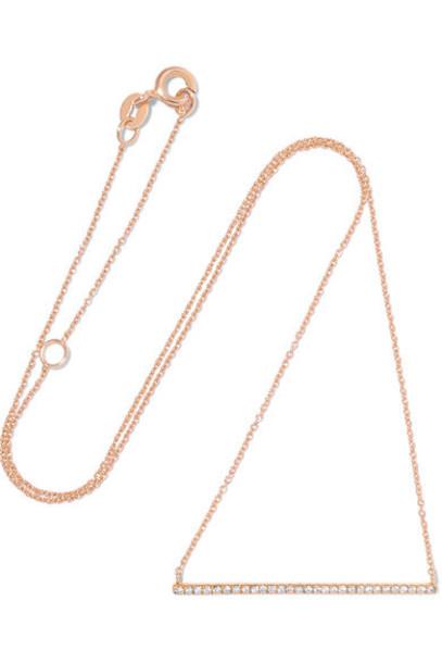 Diane Kordas rose gold rose necklace diamond necklace gold jewels