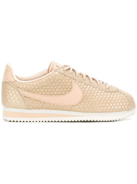 Nike women sneakers leather nude shoes