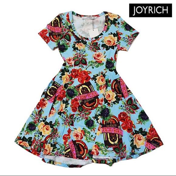 Joyrich jukebox skater dress in sax from brittany's closet on poshmark