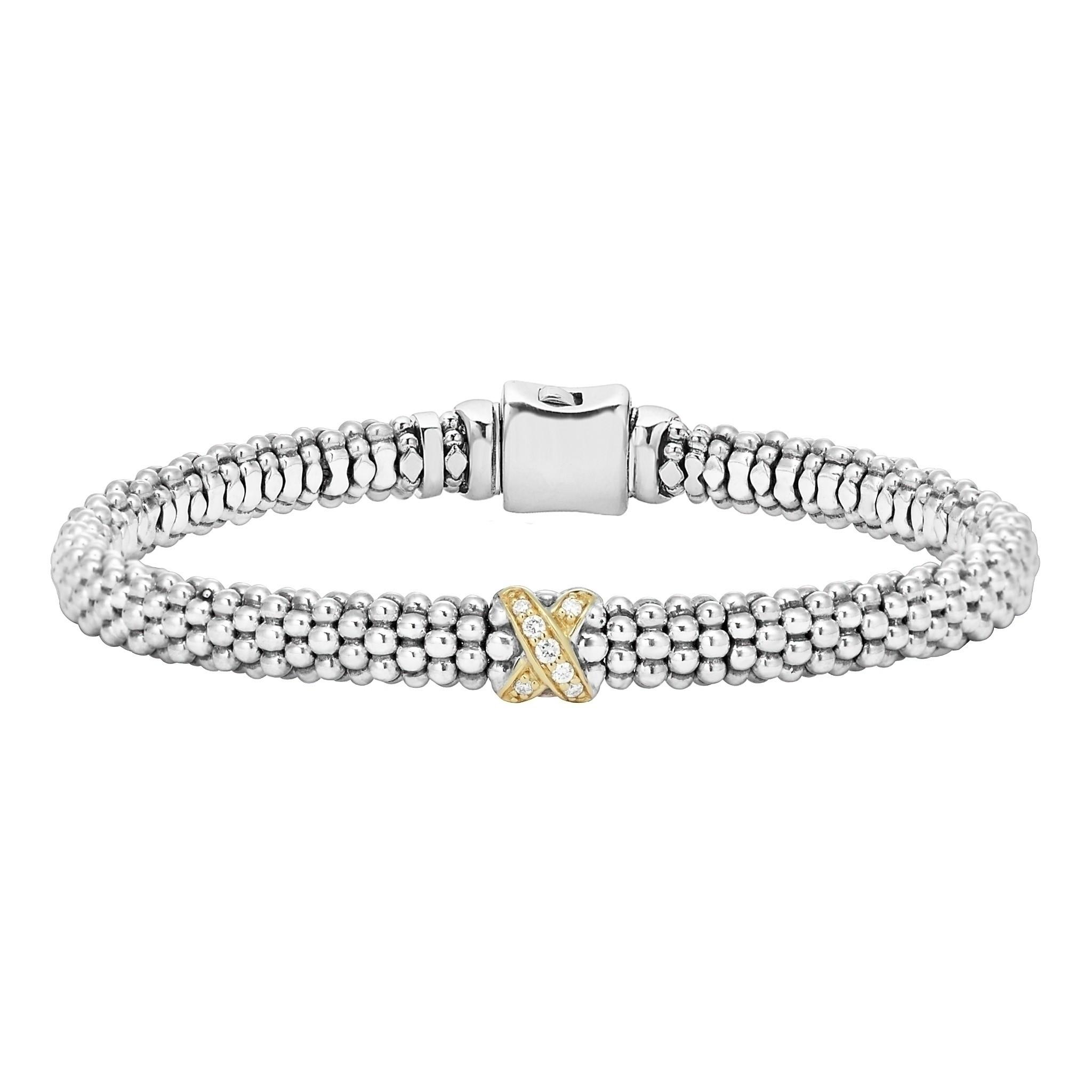 Diamond X Bracelet | Caviar Lux | LAGOS Jewelry