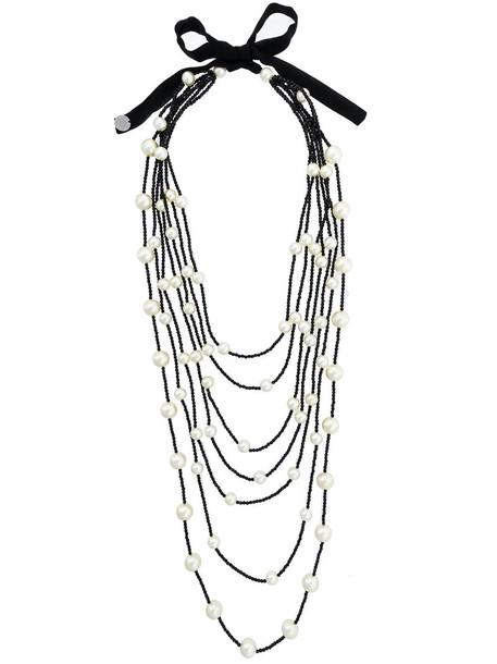 Maria Calderara layered necklace women layered beaded necklace black jewels