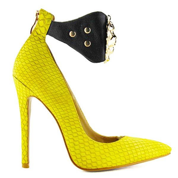 heels snake skin print yellow yellow heels