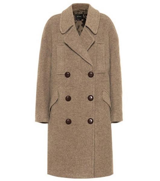 Isabel Marant Wool coat in beige / beige