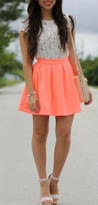 dress pink white love fashion