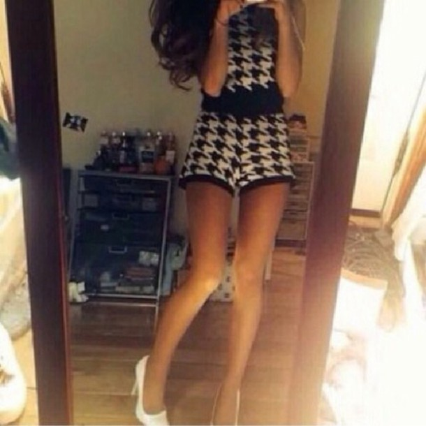 skirt outfit black white top ariana grande chanel cute classy fashion style