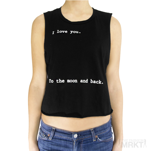 I Love You To The Moon And Back Muscle Top / TheFashionMRKT