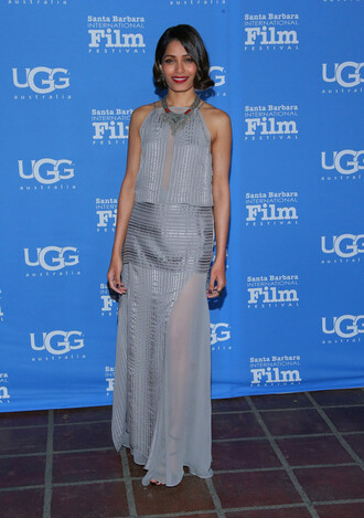 grey freida pinto skirt
