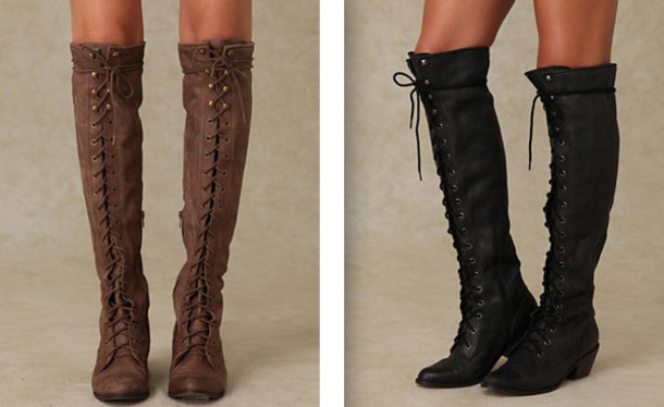 5a32d535d76 shoes boots lace up knee high brown black cute winter outfits heel  beautiful leather jeffrey campbell