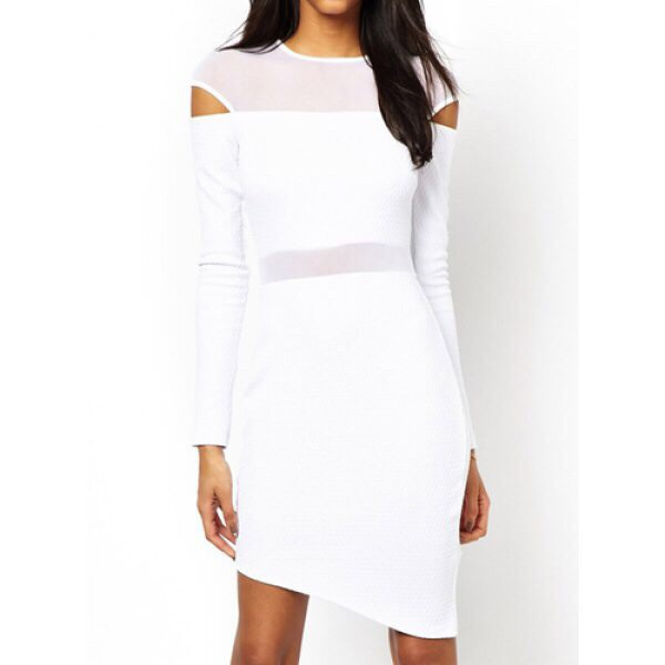 dress white dress mesh dress