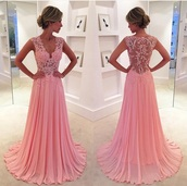 dress,2016 prom dress,long prom dress,pink prom dress,evening dress,lace dress,pink dress,sweetheart neckline,pink,elegant,fashion,style,prom,homecoming dress,long dress,lace,beautiful,dressofgirl,prom dress,sexy dress,pink lace dress,formal dress