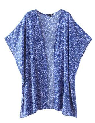 cardigan brenda-shop kimono vintage top throw cape loose blue nationaltrends cute beach summer outfits short sleeve