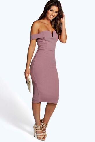 dress bodycon dress knee high dress mauve dress boohoo dress evening dress party dress