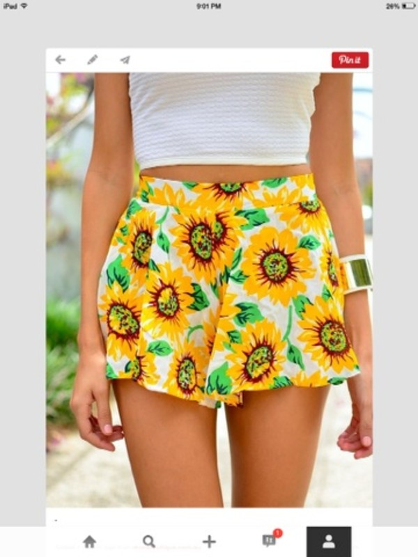 shorts sunflower