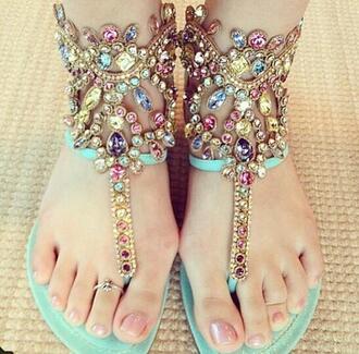 shoes sandals aztec tribal pattern