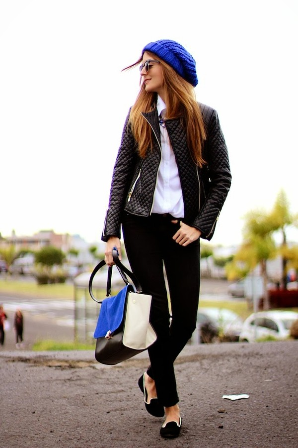 marilyn's closet blog jacket jewels shirt pants bag hat