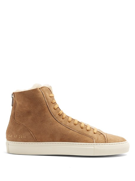 Common Projects top suede tan