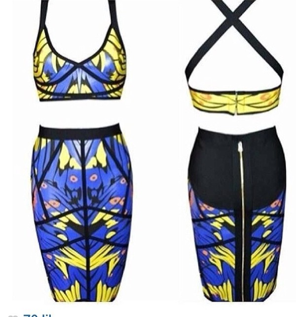 dress skirt set skirt crop top set bandage set