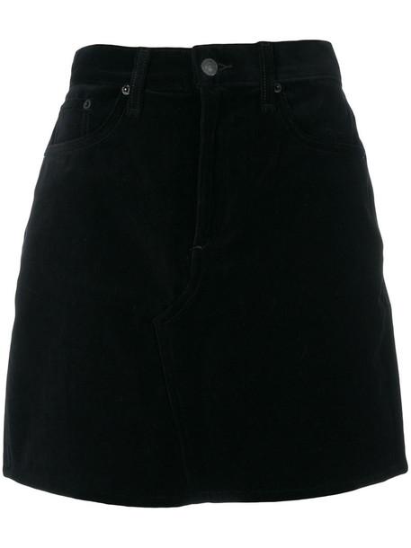 skirt mini skirt mini women cotton black