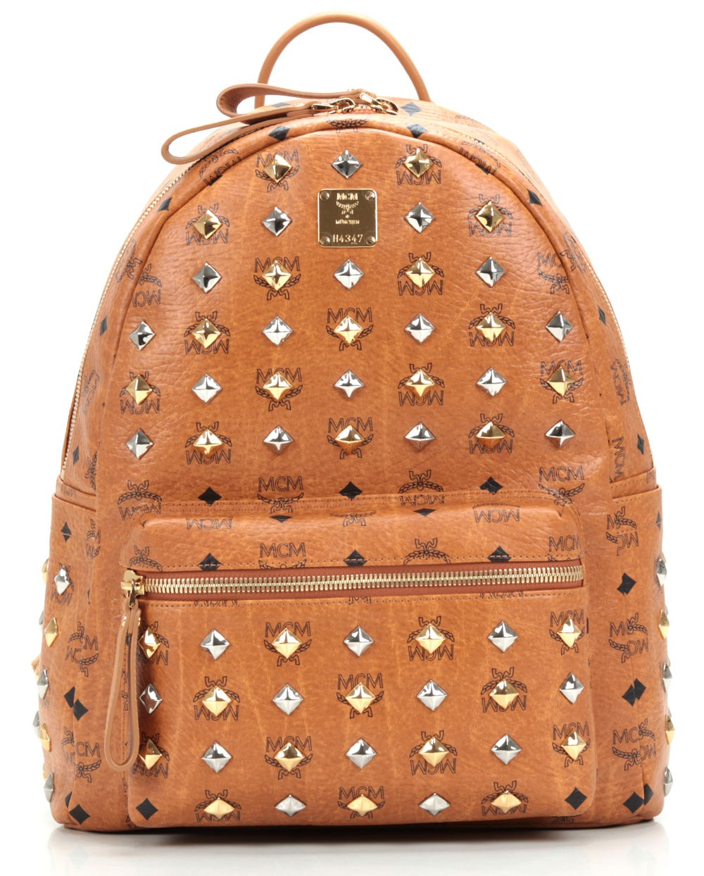 MCM Stark Stripe Faux Leather Backpack - Brown | ModeSens