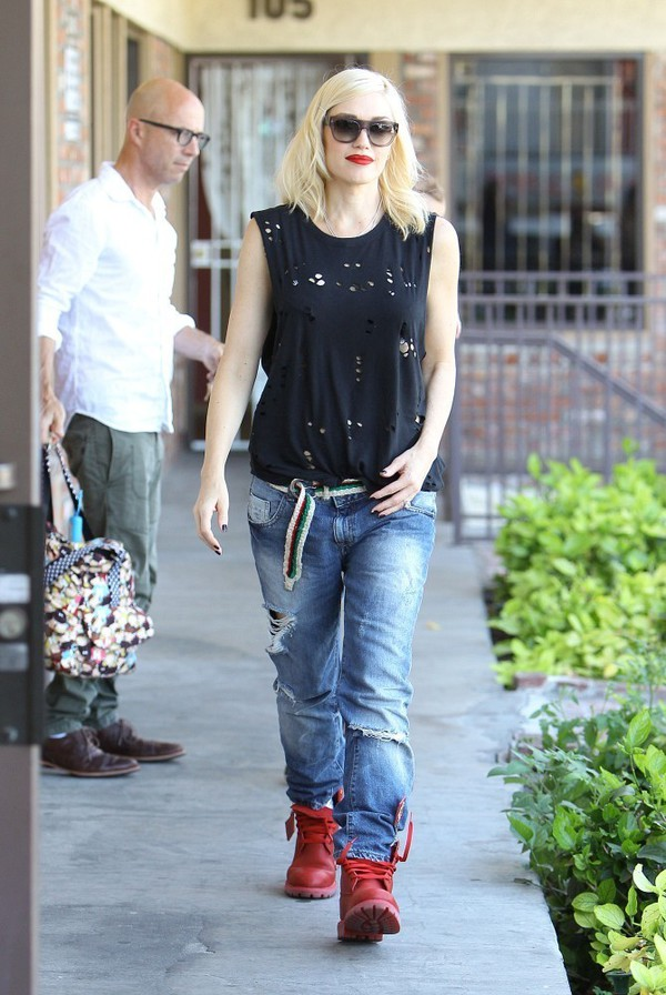 top black gwen stefani boots