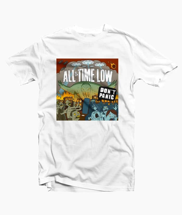 All Time Low T Shirt Don't Panic For Men Women Size S-M-L-XL-2XL-3XL