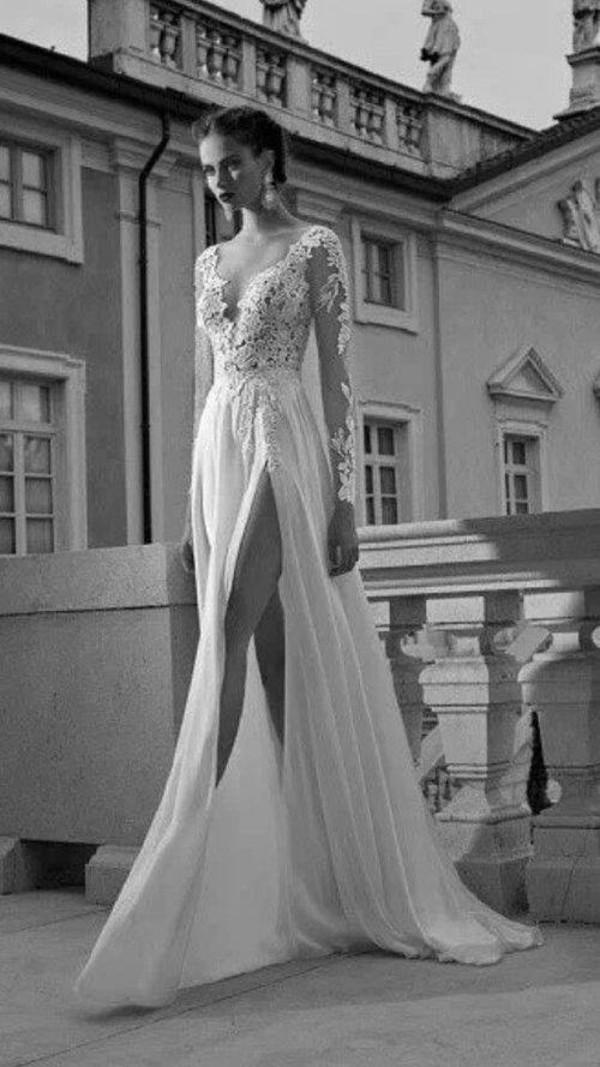 dress white dress lace dress long prom dress