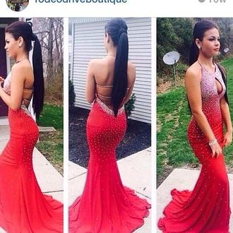 dress red formal prom jovani low back black dress