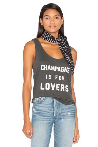 love champagne charcoal top
