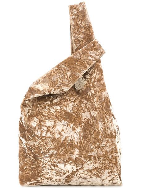Hayward women suede silk velvet brown bag
