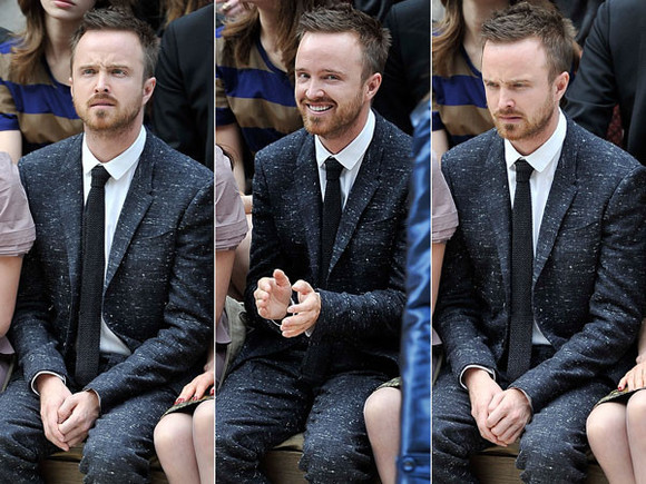 burberry jacket suit grey aaron paul