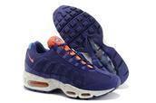 shoes,nike air max 95 em women's focus air dark blue orange