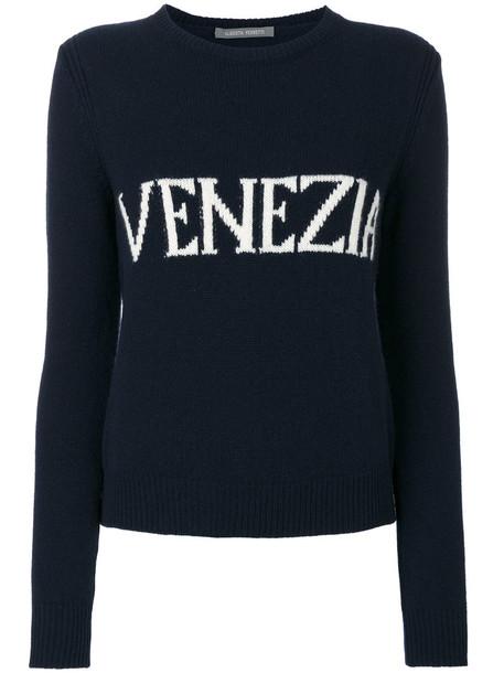 Alberta Ferretti jumper women blue wool sweater
