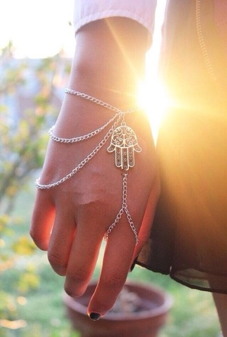 jewels hippie boho bracelets bracelet chains ring jewelry bracelets hamsa hand accessories hamsa ring bracelet hipster top jewelry hair accessory style