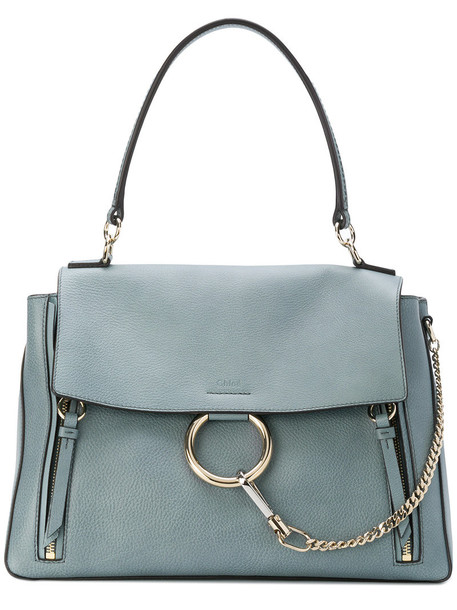 Chloe women bag leather cotton blue