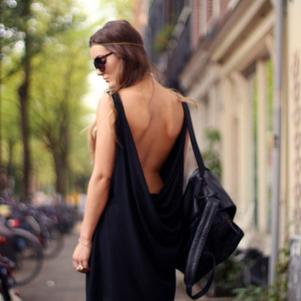 dress open backed dress dark dress long dress