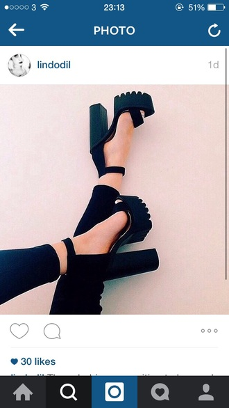 shoes public desire cleated sole high heels black high heels cute high heels