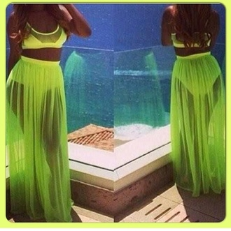 skirt jumpsuit lime green jumpsuit halter