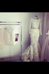 dress,3d,designer,flowers,roses,mermaid prom dress,wedding