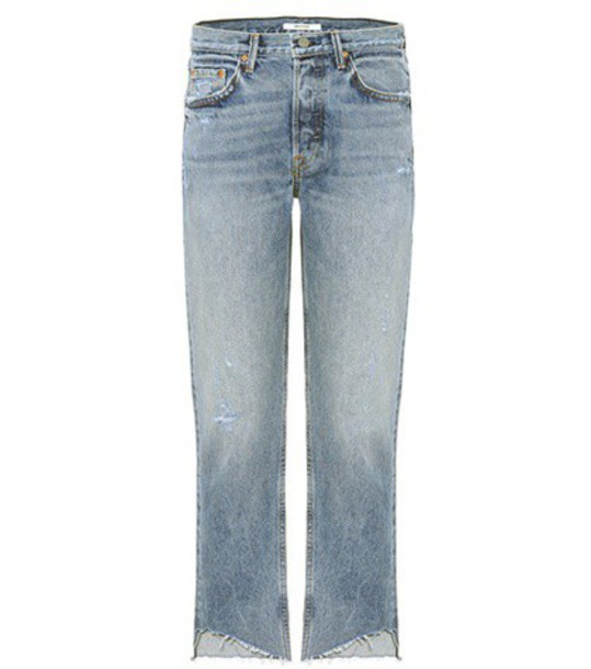GRLFRND jeans cropped blue