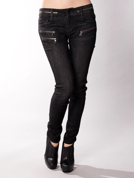 Black Orchid Black Jack Zipper Skinny Jean in Moonlight  [BO-561CD] - $81.00 : Manhattanite