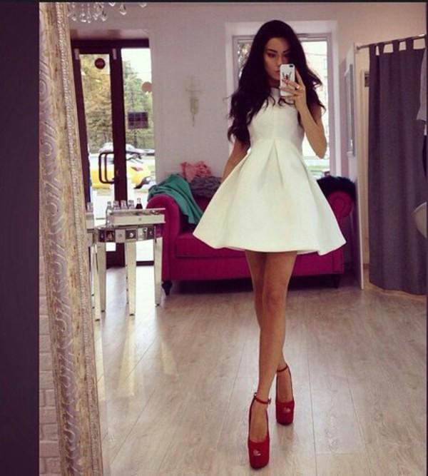 dress fashion style classy glamour platform high heels