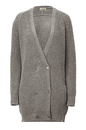 Heather grey double breasted cardigan by closed